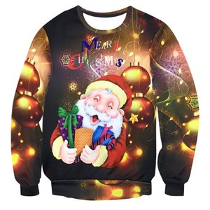 2021 New Female Male 3d Ugly Santa Elf Holiday Sweater Funny Women's Blouses Tops Autumn Winter Clothes Qqn3