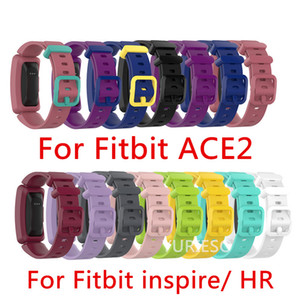 Silicone Wristband Strap Bracelet For Fitbit Inspire   Inspire HR Fitbit ace 2 ACE2 Tracker Smartwatch Replacement Watch Band Wrist Strap