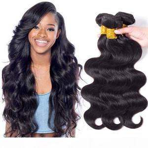 Nouvelle arrivée Pérou Vierge vague de corps Cheveux Weave 3 4 5 Bundles bon marché 8a Virgin Malaisie et du Brésil Wet Méfiant Hair Extensions