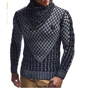 2021 Nouveau automne Guys Sweaters chauds Computer Homme décontracté Tricot Hommes Hommes Black Pull Manteau AH3B