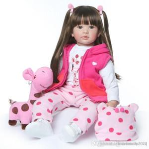 Grande Renascer 23inch silicone suave Vinyl boneca 60 centímetros de silicone suave Renascer Boneca recém-nascido Lifelike Bebes Renascer DollsToys presente crianças