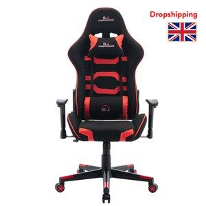 Stock in UK E-Sport Racing Computer-Swivel Rocker Chair Red Gamer Stühle für Erwachsene Verstellbare Bürostühle PU-Leder PC Gaming
