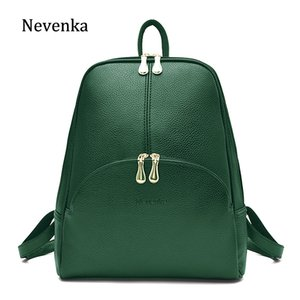 Nevenka Leather Backpack Women Solid Backpacks Light Weight Bag Cute Top Handle Backpacks for Girls Mini Backpack Female Bagpack 201014