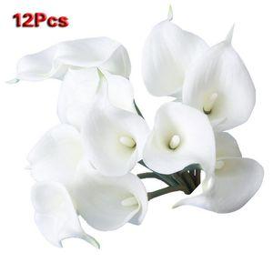 12pcs Calla Simulation Artificial Flower House Decoration - White