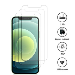 Protetor de tela de vidro temperado para iPhone 12 mini 11 Pro XR XS máx x 8 mais Samsung Galaxy S9 LG V20 sem pacote