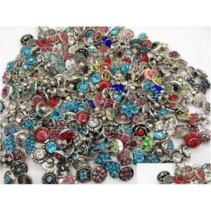 Wholesale 50Pcs Lot Assorted Interchangeable Metal 12Mm 18Mm Snaps Button Clasps Charm Fit For Diy Ginger Snaps Jewelry Rfh1P