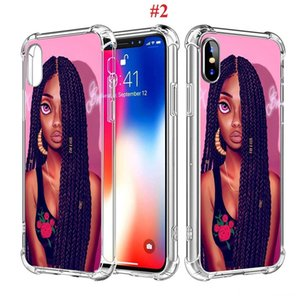 2bunz Melanin Poppin Aba Black Girl Magic Phone Case For Samsunmg Galaxy S10 S10e S9 S8 Plus Note 8 9 10 Pro J8 A40 A50 A60 Shockproof Case