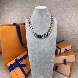 Хип-хоп моды мужские 316L титановые стальные ожерелье цепи связывает патчи гравировать четыре листа цветок цветные эмаль 18K золотые браслеты ювелирные изделия