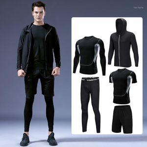 Ausführen von Sets Plus Size Fitnessanzug Herren Fat Plus-Size-Sportsticks Trainings-Set Sportswear Gym Kleidung für Gewicht 120kg S-6XL1