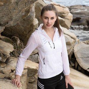 Sommer mit Kapuze Haut Jacke Frauen Windjacke ultradünne Windjacke Wallet jacketquick Trockenfischen Strickjacke Sonnenschutz-Anzug für mich