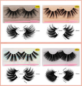HOT Sale 15 Style 25mm Mink Fake Eyelashes Wholesale Soft Natural Thick 3d Mink HAIR False Eyelash Bulk Makeup Wholesale Eyelash Brush Set