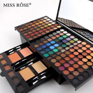 180 colors matte nude shimmer eyeshadow palette makeup set with brush mirror Shrink professional Cosmetic case makeup kit