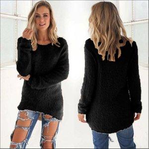 Jumpers tricotés de base de cou pour femmes pour femmes pulls décontractés perdues manches longues pull hiver femelle clor streetwear # t1g1