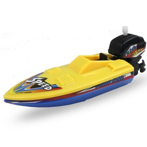 1pc Speed Boat Ship Wind Up Toy Float In Water Kids Classic Clockwork Summer Shower Bath for Children Boys Toys
