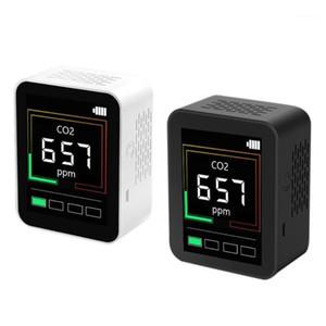 Moniteur de la qualité de l'air CO2 Moniteur de testeur de gaz Detector Testeur Analyseur Mètre de dioxyde de carbone avec écran d'humidité de la température 400-5000PPM1