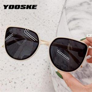 Yooske Cat Eight Ladies Women Sun Sun Oversized Gafas Sunglasses Eyewear 2020 Shades Brand Designer Srcln