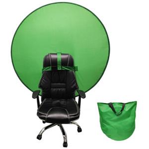 2021 녹색 배경 화면 휴대용 4.65ft 사진 비디오 스튜디오 의자 커버 접는 반사경 파란색 의자 가족 일일 의자