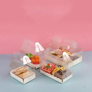 Sap Çevre dostu Şeffaf Plastik Peynir Kek Kutusu Pişirme İsviçre Rulo Kutu T500435 ile Kutusu Packaging Şeffaf Kek Rulo