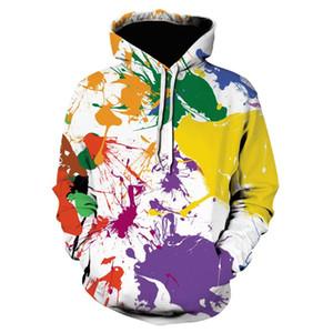 3D Printing Hoodie Art Pattern Streetwear New Men's Loose Sportswear Long Sleeve Hooded Sweater Trend All-match Pullover 201016