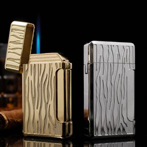 Torch Lighter Windproof Refillable Butane Gas Jet Torch lighters Metal Cigar Lighter Gift For Friends