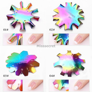 Hot New Easy French Line Edge Nail Tool Cutter Nail Stencil Edge Trimmer Multi-size Nail Manicure Nails Art Styling Tool