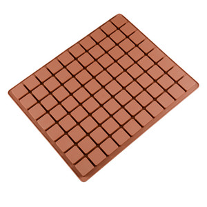 Wholesale 80 holes silicone ice cube mold square shape cake chocolate molds cookies silicone baking pads bakeware