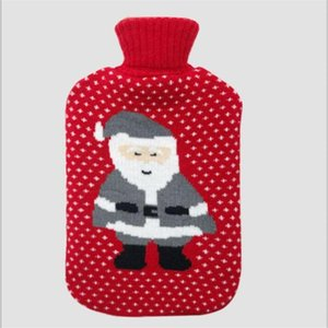 0.5 1 2l Cute Christmas Cartoon Hot Water Bottle With Knit Bottle Cover Large Capacity Household Rubber Warm Hand Home Winter jllXCL