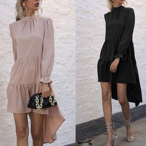 2021 spring new slim dress women's belt dovetail skirt yy6680