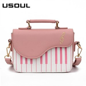USOUL 2020 Women Small Bag Fashion Piano Keys Mix Color Messenger Shoulder Bags Fresh Preppy Style Handbags Girls Shopper Bag