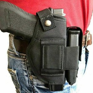 Tactical New Nylon Belt Clip Gun holster With Extra Magazine Pouch For Wather PPK & PPK S