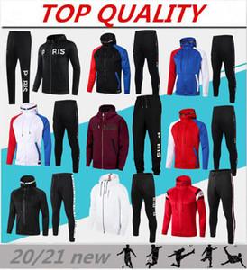 2020 2021 Futbol Eşofman Kapüşonlu Ceket Survetement 20/21 Verratti Icardi Mbappe Futbol Kapüşonlu Nakış Ceketler