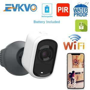 EVKVO 3MP Batteria ricaricabile IP Camera Telecamera WiFi Fotocamera per esterni Interni Interni Tempo metallico CCTV Security PIR Motion Alarm IR P2P
