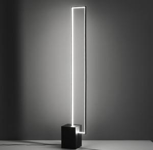 Nórdio minimalista conduziu lâmpadas de chão tricolor lâmpada de controle remoto decoração interior metal preto com botão de interruptor lâmpada de pé