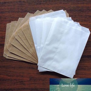 """200pcs New Kraft and White Solid Color Party Favor Bags, Bitty bag,Kraft Paper Gift Bag 5""""x7"""" (13x18cm)"""
