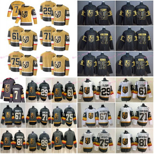 Vegas Golden Knights 7 Alex Pietrangelo 2020-2021 Oro Tercer Hockey Jersey 29 Marc-Andre Fleury 61 Mark Stone 71 William Karlsson Pacioretty
