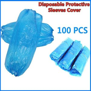 200 100pc Environmental Protective Disposable Protective Sleeves Cover Non Toxic Elastic Comfortable Cleaning Tools Dropshipping1
