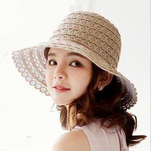 Seioum лето дамы путешествия досуг соломенная шляпа Alloy ленты Мода новая девушка ВС шляпа складная соломенной