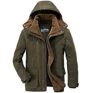 Зимняя куртка мужчины утолщены теплым минус 40 градусов хлопчатобумажные мужские с капюшоном ветровка армии Parka плюс размер 5xL 6xL 7XL пальто