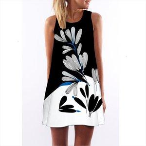 Dress Summer New Style Digital Printing Casual Dress Women Sleeveless Short Boho Style Mini Beach Vestidos designer clothes