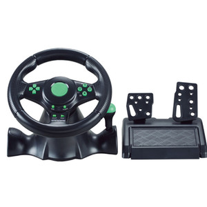 Direct selling for XBOX360 PS3 P2 PC game steering wheel USB computer vibration steering wheel with Retail Box