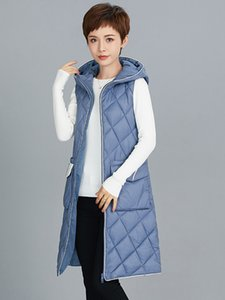 2021 New Winter and Autumn Long Vests for Women Quilted Korean Style Fashion Women's Warm Black Vest Sleeveless Jacket Woman