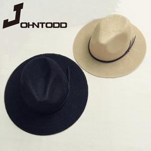 2020 Дышащая Панама Соломенная шляпа Мужская шляпа Sun Hat Дамы Летние пляж Солнцезащитный крем Sun Chapeau Cool Jazz Trilby солома