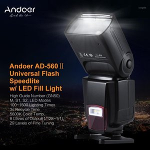 Andoer AD-560II Pro Camera Speedlite Flash GN50 w for   DSLR Adjustable LED Fill Light with Color Filters Diffuser1