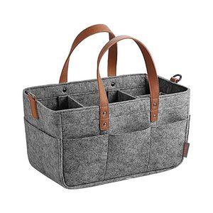 Felt Tote Portable Storage Bag Folding Storage Basket Multi-purpose Organizer Diaper Kids Toys Outdoor Home Travel