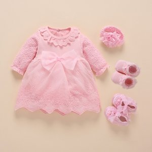 New Born Baby Girl Clothes Vestidos Christening Dress For Baby Girl Cotton Princess Baby White Baptism Dresses 3 6 9 Months 201204
