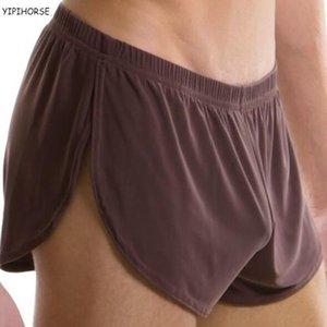 Лучшая цена Мужчин мужского белья комфортно сексуальный мужчина трусы U выпукло сумка шелк Sexy Body XXL размер underpant завод продажа C1002