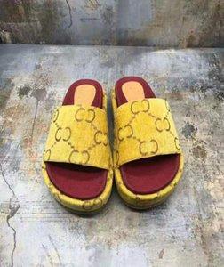 High quality DWAY SLIDE IN embroidered COTTON Luxury Designer women sandals Fashion designer sliders women platform slipper lett