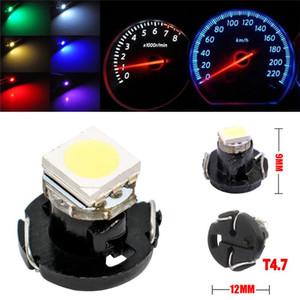 10pcs Car Panel Gauge Dash Bulb 7 Colors T4.2 T4 SMD LED Neo Wedge Dashboard Instrument Cluster Light Fashion#294303