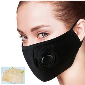 2020 PM2.5 Mask adult Activated Carbon Filter Face Mask Breathing Insert Protective Mouth Mask Activated Breathing Filter 1PCS
