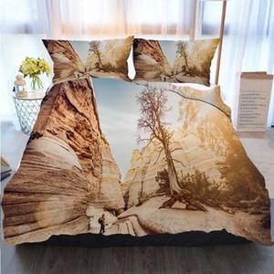Frohe Weihnachten Bettbezug-Set Wanderer Wandern Auf Kasha Katuwe Tent Rocks National Bettbezug Designer Bed Comforters Sets